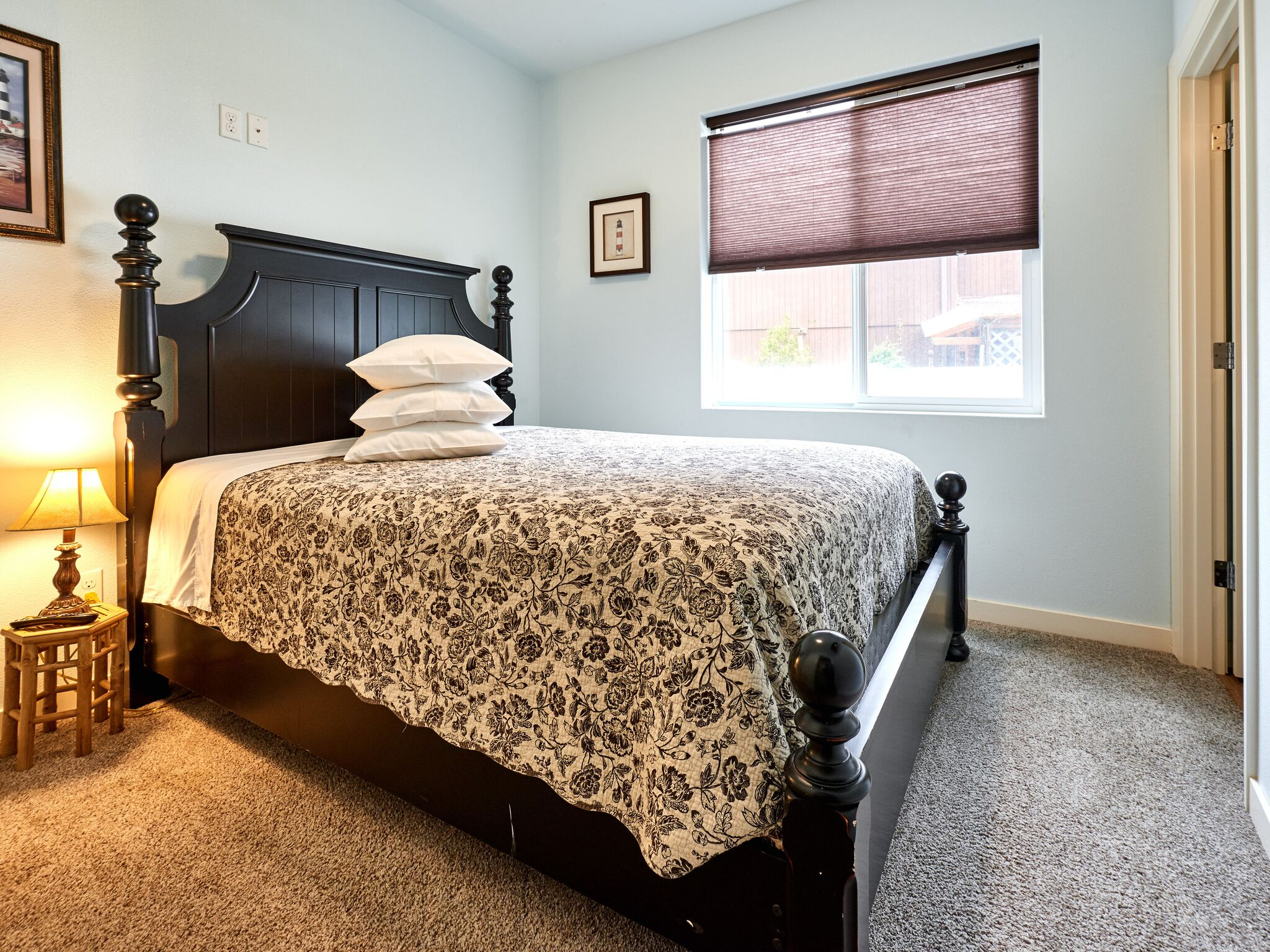 Vacation home bedroom.