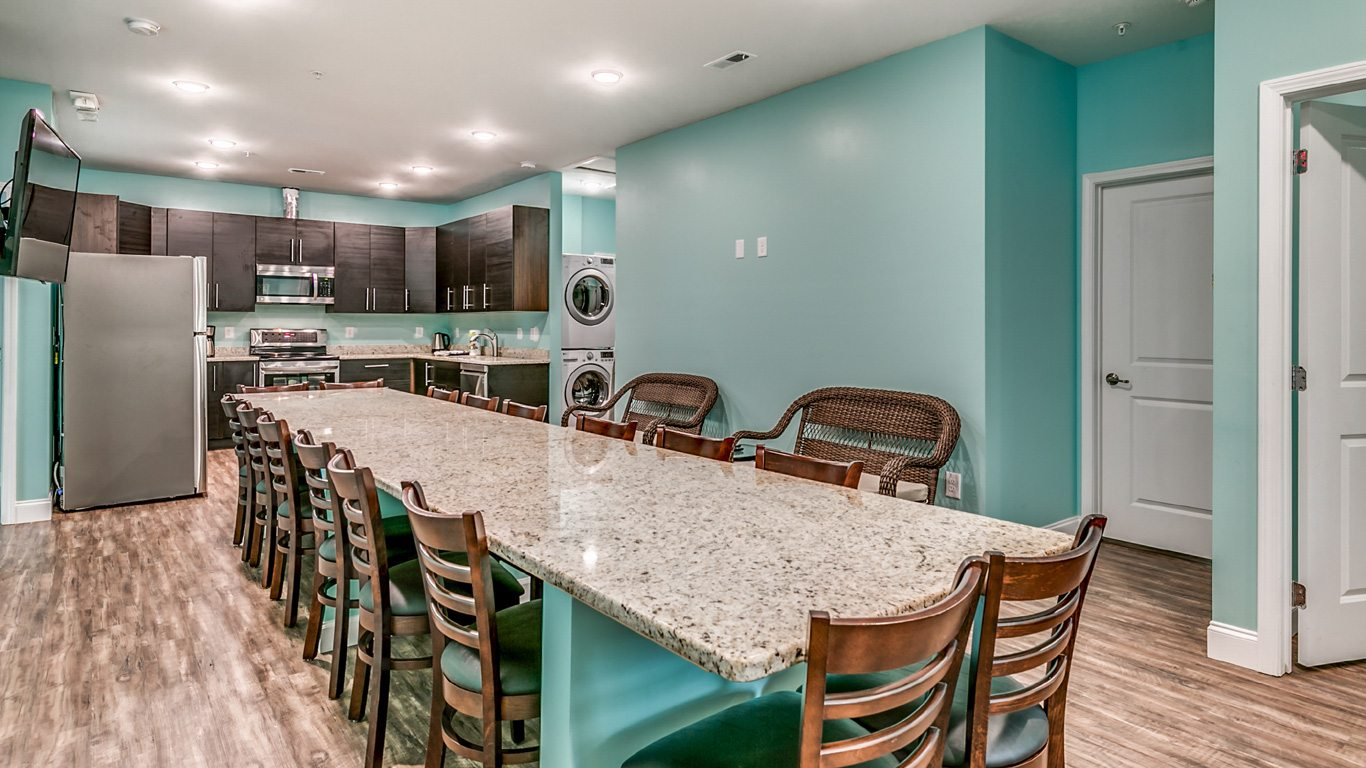 407 9th Avenue – Unit A kitchen and dining table.