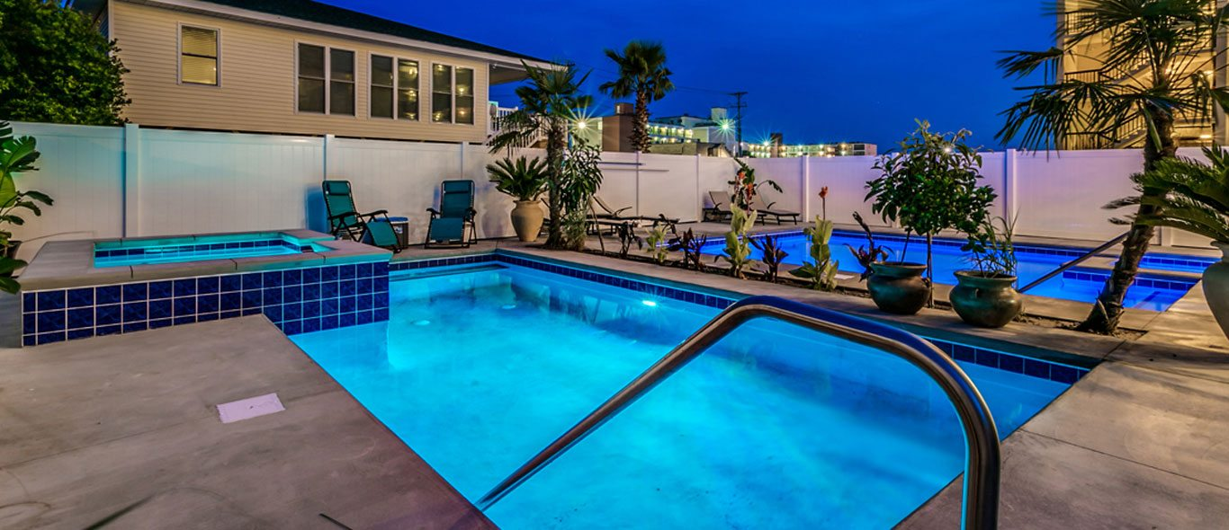 Outdoor pools and hot tubs.